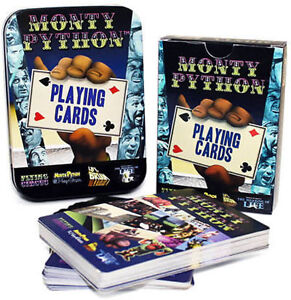 MONTY-PYTHON-PLAYING-CARDS-BRAND-NEW-IN-COLLECTORS-TIN-FULL-52-CARDS-BONUSCARDS