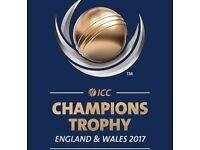 ICC CHAMPIONS TROPHY - 6 GOLD TICKETS FOR SALE - INDIA V SOUTH AFRICA - £180 PER TICKET