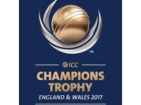ICC Champions trophy 2017 India vs Pakistan, South Africa and Sri Lanka tickets