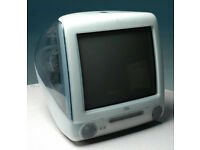 APPLE IMAC G3 BONDI BLUE VINTAGE (1998) ALL-IN-ONE UNIT USED (NO KEYBOARD/MOUSE INCL) BUYER COLLECTS