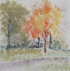 "Pricing Special!!  Olga Gabrieleva Original Art ""Trees Autumn"""