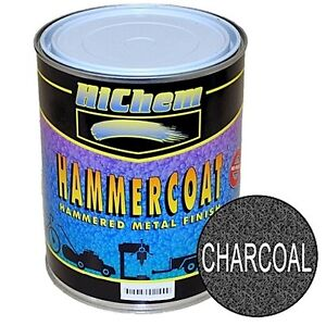 HICHEM MOTOSPRAY 1L CHARCOAL TRAILER AUTO ENAMEL PAINT METAL