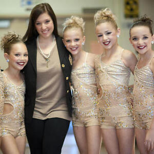 Dance Moms Gold Acro Jazz Contemporary Dance Costume CM