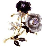 Swarovski Rose Brooch