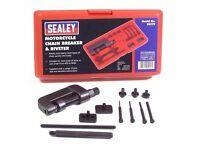 Sealey Universal Heavy Duty Motorcycle Chain Breaker Split & Rivet Tool Set