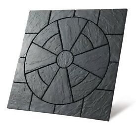 Rectory Circle 3.24m Patio Paving Feature Kit Welsh Slate Colour Only £134.99