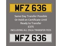 MFZ 636 – Price Includes DVLA Fees – Others Available - Cherished Personal Registration Number Plate