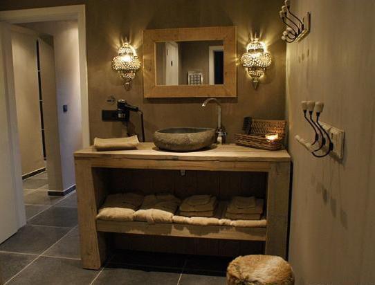 Badkamermeubel Van Steigerhout : Mooi badkamermeubel van steigerhout dehands be