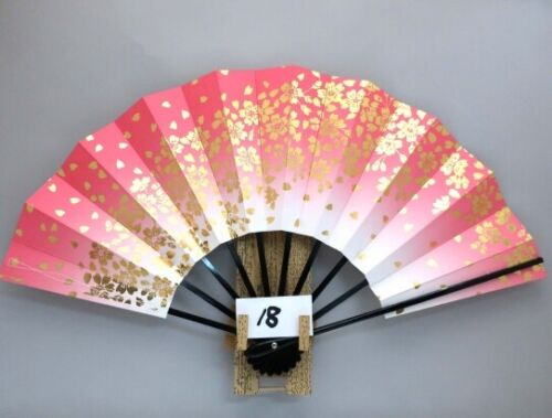 JAPANESE SENSU FAN ODORI  Cherry Blossoms 28.8cm KYOTO MADE IN JAPAN (18
