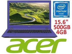 REFURB ACER ASPIRE 15.6 LAPTOP - 102040855 - N3700 4GB 500GB Win10 WXGA INTEL QUAD CORE PENTIUM COMPUTER NOTEBOOK PC