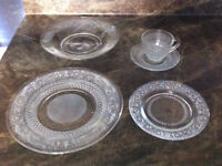 Beautiful glass dishes set - 40 pieces
