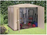 Duramax vinyl garden shed 6ft by 8ft Duramate £250
