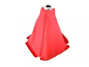 Genuine-RED-Leather-lever-Gaiter-Gear-Boot-Bag-Shift-Shifter-Knob-Cover