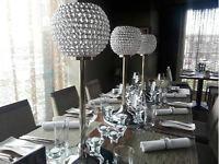 WEDDING RENTAL! SILVER CRYSTAL CENTERPIECE $15!!
