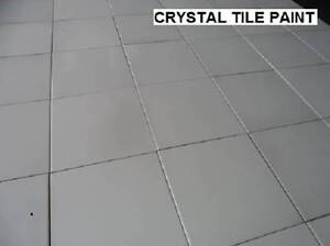 CERAMIC TILE PAINT 1 LITRE WHITE, CHARCAOL PASTEL COLOURS Wetherill Park Fairfield Area Preview