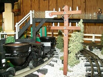 O SCALE RAILROAD TELEPHONE POLES - Set of 6 / Trains / Model Railroad Scenery  for sale  Shipping to Canada