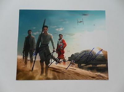John Boyega, Daisy Ridley - The Force Signed 8x10 Photo Autograph Auto