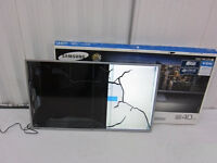 "Samsung UE40JU6410 40"" Ultra HD 4K Smart LED TV Television Silver FOR PARTS CRACKED SCREEN"