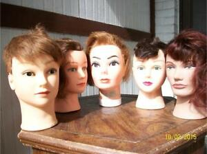 Various female pvc display head mannequins