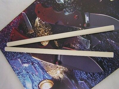 Two Ceramic Knife Sharpener Sharpening Stick Rods