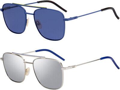 Fendi Men's Stainless Steel Vintage Style Navigator Sunglasses - FFM0008S
