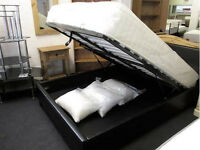 SINGLE/DOUBLE/KING SIZE OTTOMAN STORAGE BED FRAME WITH MATTRESS OF CHOICE - Brand new