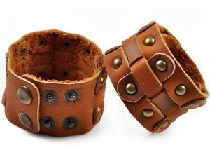 GENUINE LEATHER CUFF BRACELETS NEW SALE CLEARANCE