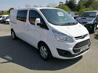 Ford Transit Custom 2.0TDCi 125ps Crew Van /Double Cab 6 Seater 290 L2H2 Limited