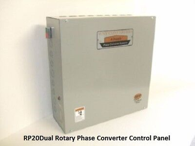Dual 20 Hp Phase Converter Rotary Control Panel-40hp Made In Usa Rp20dual