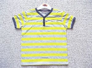 BOYS-YELLOW-STRIPE-T-SHIRT-FROM-DUCK-AND-DODGE-AT-BHS-AGE-2-8-YRS-BNWOT-RRP-18