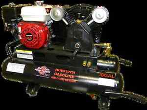 Contractors gasoline air compressor