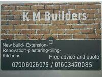 K m builders all work taking on