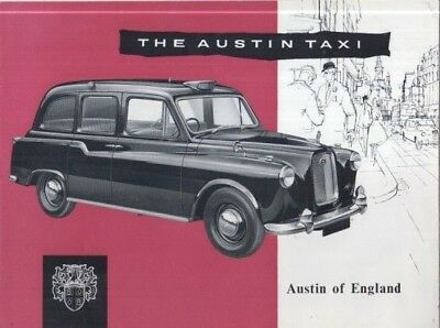 AUSTIN FX4 TAXI / HIRE CAR ORIGINAL 1960 FACTORY UK SALES BROCHURE