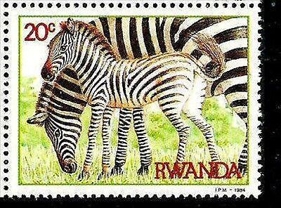 RWANDA - 1984 - ZEBRA & COLT - AFRICA  - MINT - MNH - SINGLE
