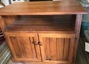 Solid pine timber TV cabinet Mitchelton Brisbane North West Preview