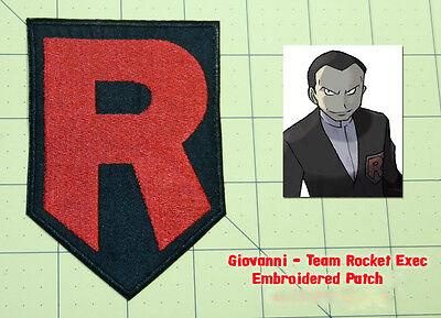 Pokémon Team Rocket R Logo Patch Black Embroidered Badge Costume Pokemon Cosplay - Team Rocket Pokemon Costume