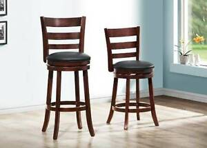 "Swivel counter height stools, 24"" , also in stock in bar height"