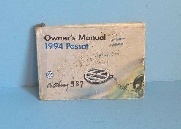 94 1994 VW Passat owners manual