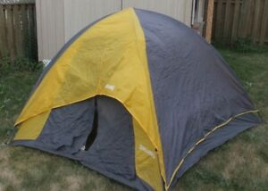 Spalding 3 person Dome tent w/ rain fly and a bag light quick ea