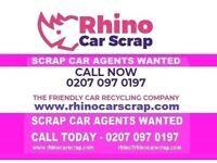 CAR SCRAP AGENTS WANTED ASAP | 1200+ LEADS A WEEK | CALL NOW 0207 097 0197 | RHINO CAR SCRAP