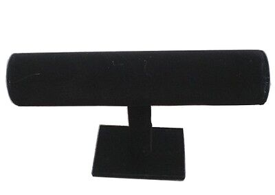 2 Black Velvet Single Level Bracelet Display Rack Jewelry Displays Racks Jl490