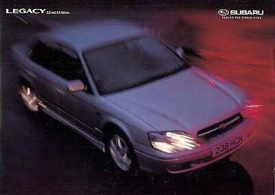 Subaru Legacy Saloon 1999-2001 UK Market Sales Brochure 2.0 GL 2.5 GX, used for sale  United Kingdom