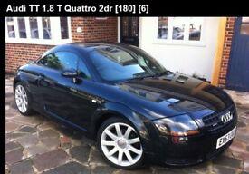 AUDI TT QUATTRO COUPE 180 BHP BLACK LOW MILEAGE 86K