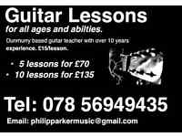 Guitar lessons for all abilities
