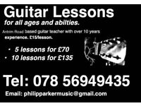 Perfect Christmas gift for budding guitarists. Guitar lessons for all abilities.