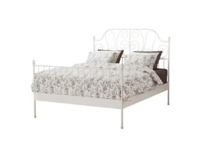 IKEA Leirvik Queen Bedframe and LINDVED bedside table bundle