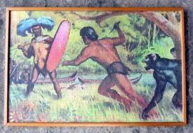 Rare (framed) Vintage Tarzan Puzzle - 1966 Banner Production