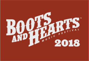 NEED BOOTS AND HEARTS 2018 4 day general admission
