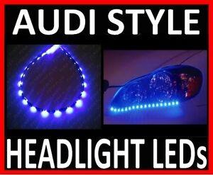 BLUE-24-LED-SIDE-SHINE-HEAD-LIGHT-STRIP-DRL-HEADLIGHT-STRIPS-B7