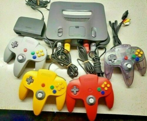 UPGRADED Nintendo 64 N64 console with 1 2 3 or 4 Official OEM remotes + Cables